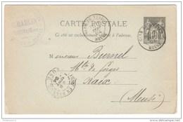 Marcophilie - Carte Postale Imprimée 10 C Sage De Verdun Pour Naix - 1894 - Adressée Au Maître De Forges - Standard Postcards & Stamped On Demand (before 1995)