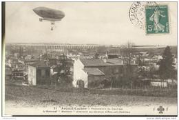"""CPA Aviation - L'Aéronef """"Maissot"""" Planant Au Dessus D'Arceuil Cachan - Circulée 1910 - Ausrüstung"""