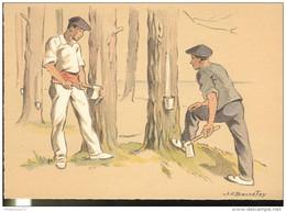 CPSM Edition Barré Et Dayez - Illustrateur Bonnefoy - Croquis Régionaux : Résiniers - 1301U - Illustrators & Photographers