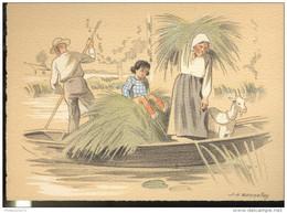 CPSM Edition Barré Et Dayez - Illustrateur Bonnefoy - Croquis Régionaux : Maraichins - 1302B - Illustrators & Photographers