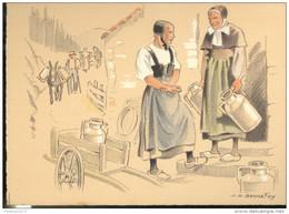 CPSM Edition Barré Et Dayez - Illustrateur Bonnefoy - Croquis Régionaux : Fromagerie - 1299U - Illustrators & Photographers