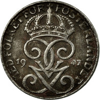 Monnaie, Suède, Gustaf V, Ore, 1947, TB+, Iron, KM:810 - Suède
