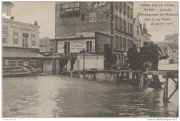 CPA Paris - Crue De La Seine - Grenelle - Déménagement Rue Violet -  Circulé 1910 - Alluvioni Del 1910
