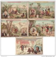 Lot De 5 Chromos Liebig - Les Explorateurs - Liebig