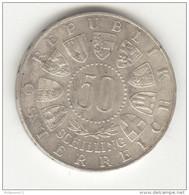 50 Schilling Autriche / Austria 1963 - Argent / Silver - Oesterreich