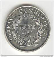750 000 Bin Lira 1998 - Turquie / Turkey - Argent / Silver - Türkei