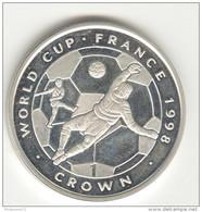 1 Couronne / 1 Crown - Ile De Man / Man Island - 1998 - World Cup France - Proof - Otros – Europa