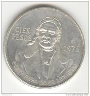 100 Pesos Mexique 1978 - Argent / Silver - Mexico