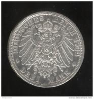 3 Mark Prusse / Prussia 1914 Wilhelm II TTB+ - Other