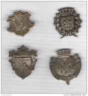 Lot De 4 Badges - Concours De Gymnastique Alsace Lorraine Occupée ( Turnfest ) - Voir Description - Army & War