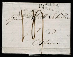 A5716) Vorphila Brief Hamburg 1828 N. Rheims - Germania
