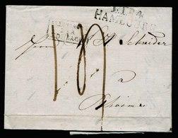 A5716) Vorphila Brief Hamburg 1828 N. Rheims - Germany