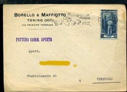 128 TORINO BORELLO & MAFFIOTTO , VIA PRINCIPE TOMMASO 40  , LETTERA INTESTATA E ILLUSTRATA - Italie