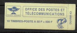 CALEDONIE - 1990 - CARNET De 500 F TYPE CAGOU - YT C588 - Booklets