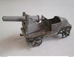 Canon Sur Plateau Renault 22 HP - Fabricant AR - Autajon Roustan - Plomb - Circa 1930 - Bon état - Jouets Anciens
