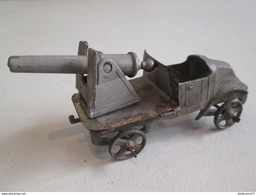 Canon Sur Plateau Renault 22 HP - Fabricant AR - Autajon Roustan - Plomb - Circa 1930 - Bon état - Antikspielzeug