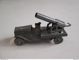 Canon Sur Plateau Latil - Fabricant AR - Autajon Roustan - Plomb - Circa 1930 - Bon état - Jouets Anciens