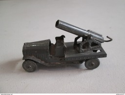 Canon Sur Plateau Latil - Fabricant AR - Autajon Roustan - Plomb - Circa 1930 - Bon état - Toy Memorabilia