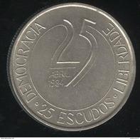 25 Escudos Portugal 1984 10 Ans De La Révolution Des Œillets - Portugal