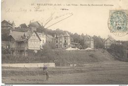 CPA  Veulettes - Villas - Route Du Boulevard Maritime -  Circulée 1908 - France