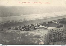 CPA  Carolles - Casino Hôtel - Plage -  Circulée 1913 - Frankrijk