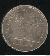 25 Cents Guatemala 1893 - Rare - TTB+ - Guatemala