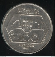 200 Escudos Portugal 1991 - Navigations Vers L'Ouest - Portugal