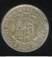 20 Cents  Afrique Du Sud / South Africa 1963 TTB - South Africa