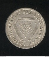 3 Pence Afrique Du Sud / South Africa 1959 TTB - Afrique Du Sud