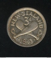 3 Pence Nouvelle Zelande / New Zeland 1943 TTB+ - Nouvelle-Zélande