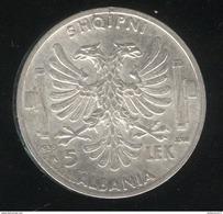 5 Lek Albanie 1939 - SUP - Albania