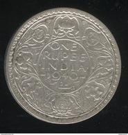 1 Roupie Inde / India 1940 TTB - India