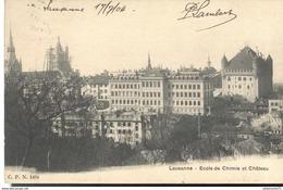 CPA  Lausanne - Ecole De Chimie - Château -  Circulé 1904 - VD Waadt