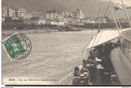 CPA  Montreux - Vue Sur Montreux Depuis Le Lac - Circulé 1911 - VD Waadt