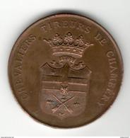 Médaille Chevaliers Tireurs De Chambery - Tir International Chambery 1894 - Army & War