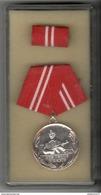 Médaille Allemagne De L'Est Du Service Dans La Milice Avec Réduction - Germany