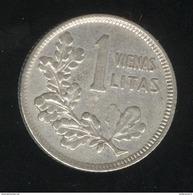1 Litas Lituanie 1925 TTB+ - Lituanie