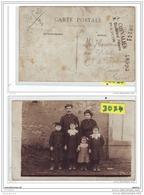 9501 AK/PC/ CARTE PHOTO 3074 FAMILLE DE SEINE ET MARNE A IDENTIFIER PHOTO CHEVALIER 9 BOULEVARD PEREIRE PARIS - Da Identificare
