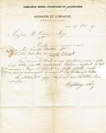 LAC 1847 BRUXELLES - Entête KIESSLING & Cie - Librairie Belge, Française Et Allemande - Cachet Précurseur 27 OCT 1847 - 1830-1849 (Belgique Indépendante)
