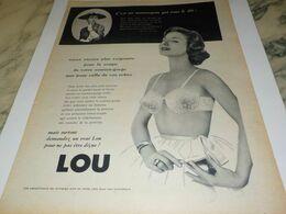 ANCIENNE  PUBLICITE SECRET DE BEAUTE J AI MON  LOU  1958 - Habits & Linge D'époque