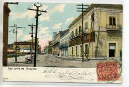 """MEXIQUE TAMPICO Una Calle Rue Ville Commerce """" Las Fabricas   .."""" 1905 écrite Timbrée   /D02-S2017 - Mexique"""