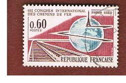 FRANCIA (FRANCE) -   SG 1723   -    1966 INT. CONGRESS OF RAILWAYS   - USED - Frankreich