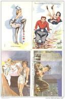 Lot 8 Cartes Humoristiques - Illustrateur Carrière - Neuves - Carrière, Louis