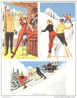 Lot 5 Cartes Humoristiques - Ski - Illustrateur Carrière - Neuves - Carrière, Louis