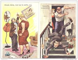 Lot 2 Cartes Humoristiques - Illustrateur Ereirrac ( Carrière ) - Neuves - Carrière, Louis