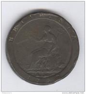 1 Penny Grande Bretagne / Great Britain 1797 - 1662-1816 : Antiche Coniature Fine XVII° - Inizio XIX° S.