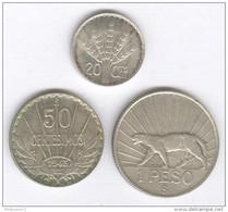 Série 20 Centimes à 1 Peso Uruguay 1942-1943 - Uruguay