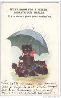 """CPA Chats - """"Il Y A Encore Place Pour Quelqu'un"""" - Circulée En 1924 - Cats"""