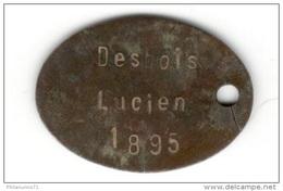 Plaque D'identification De Soldat - Centre Mobilisateur De Chalon Sur Saône - Classe 1895 - Equipement