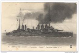 """CPA Marine De Guerre - Dreadnought """"Danton"""", Cuirassé D'Escadre - Circulée - Guerra"""